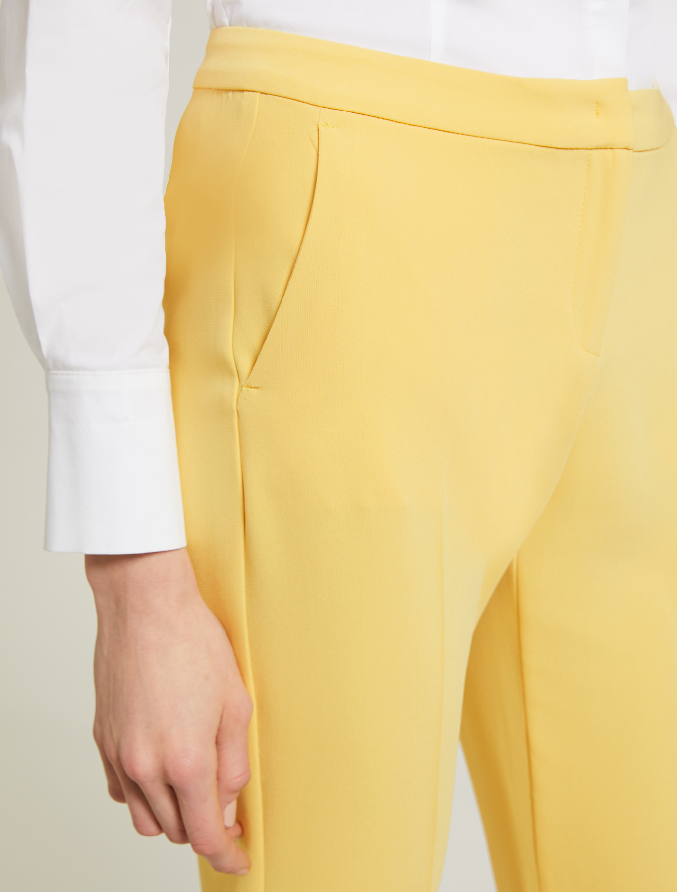 Straight fit, fuller trousers - sunshine yellow - pennyblack