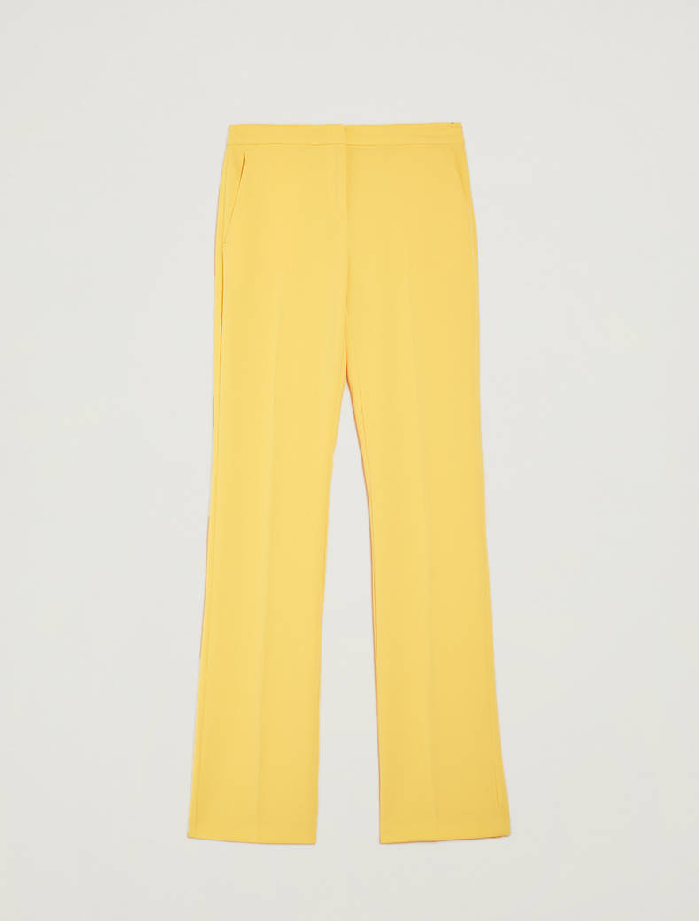 Pantaloni straight fit fluidi - giallo sole - pennyblack