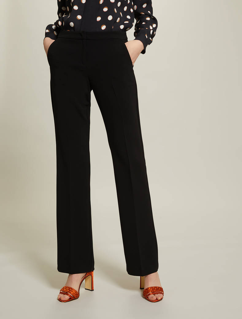 Straight fit, fuller trousers - black - pennyblack