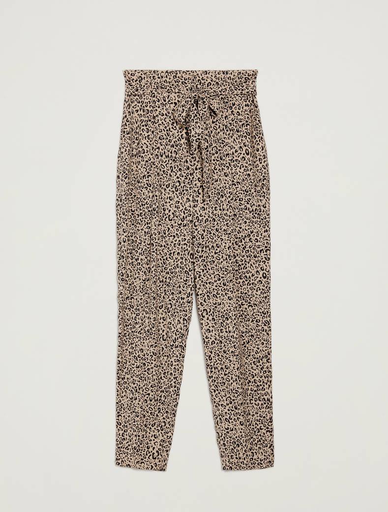Pantaloni in sablé maculato - fantasia sabbia - pennyblack
