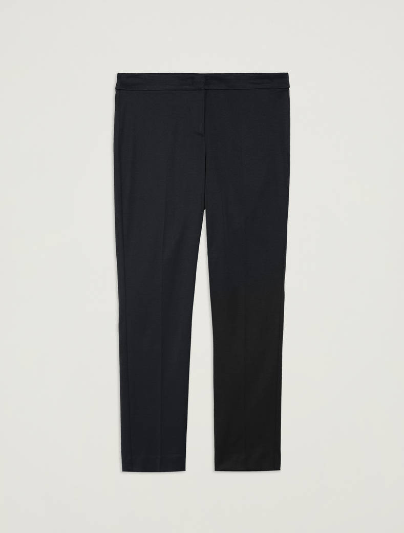 Pantaloni slim in faille - nero - pennyblack