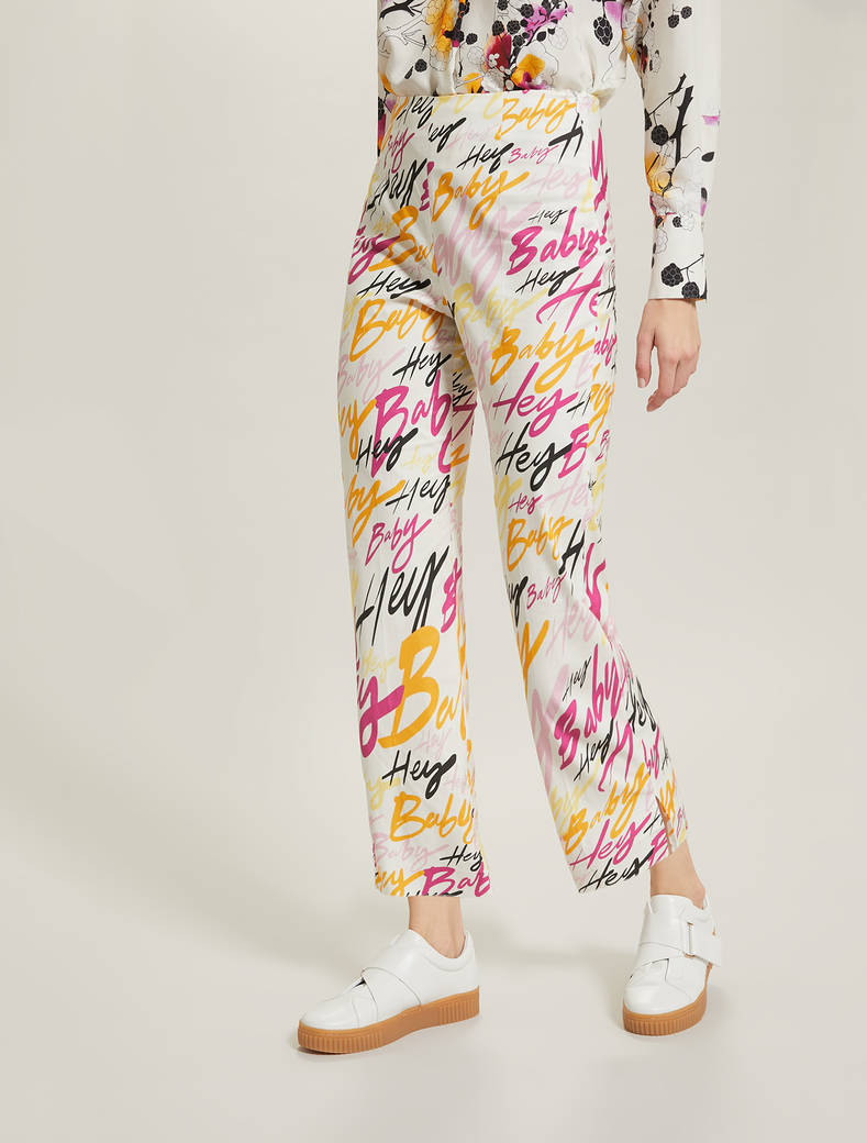 Sunset Road cotton trousers - ivory pattern - pennyblack
