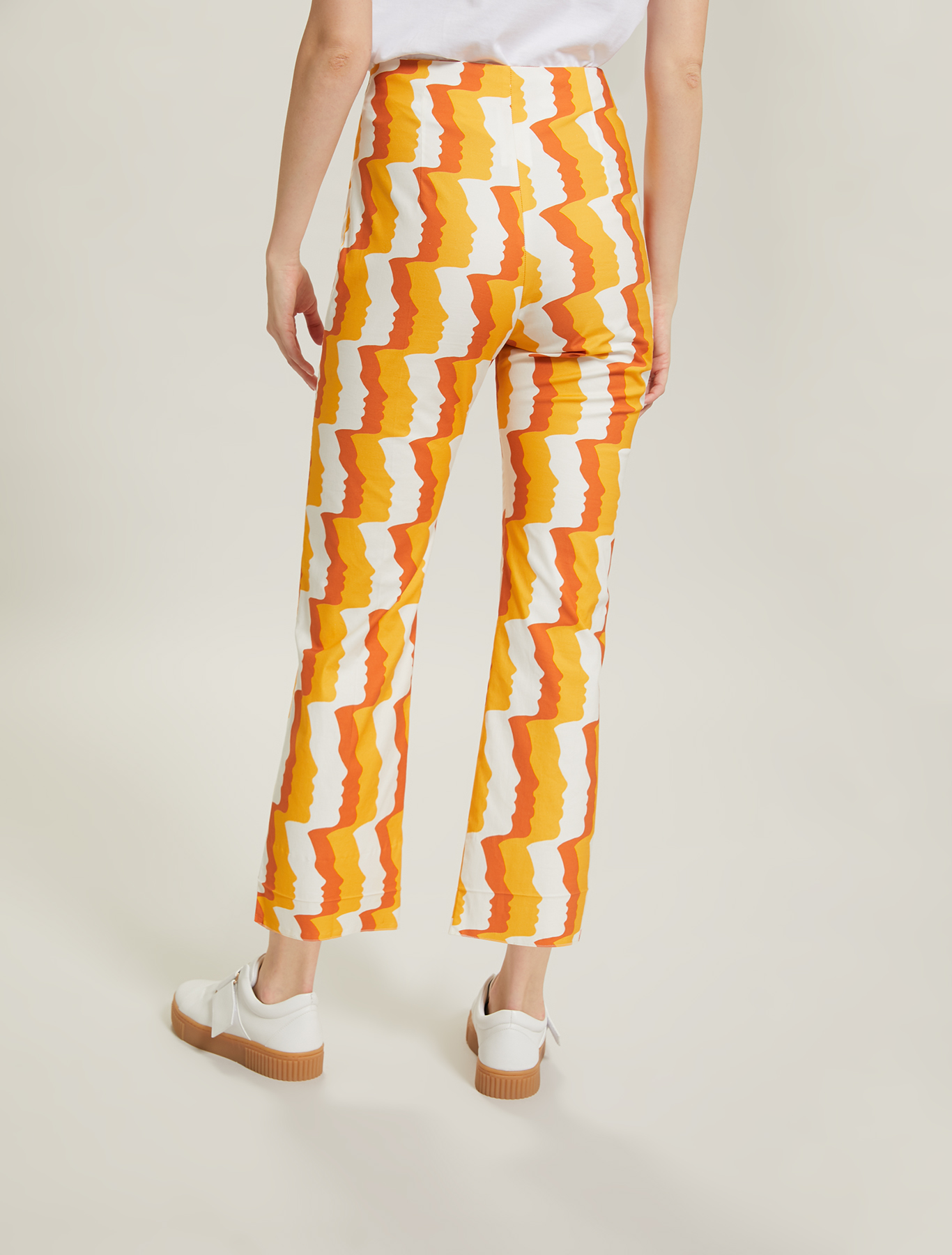 Sunset Road cotton trousers - terracotta pattern - pennyblack