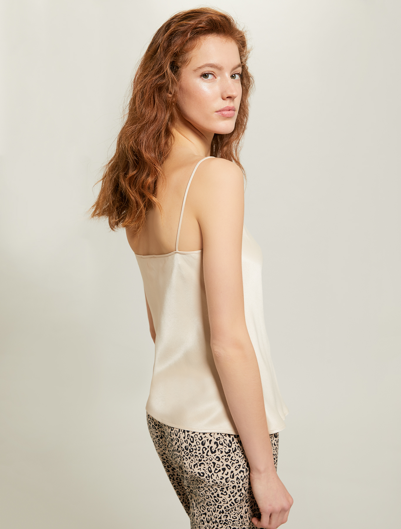 Envers satin top - beige - pennyblack
