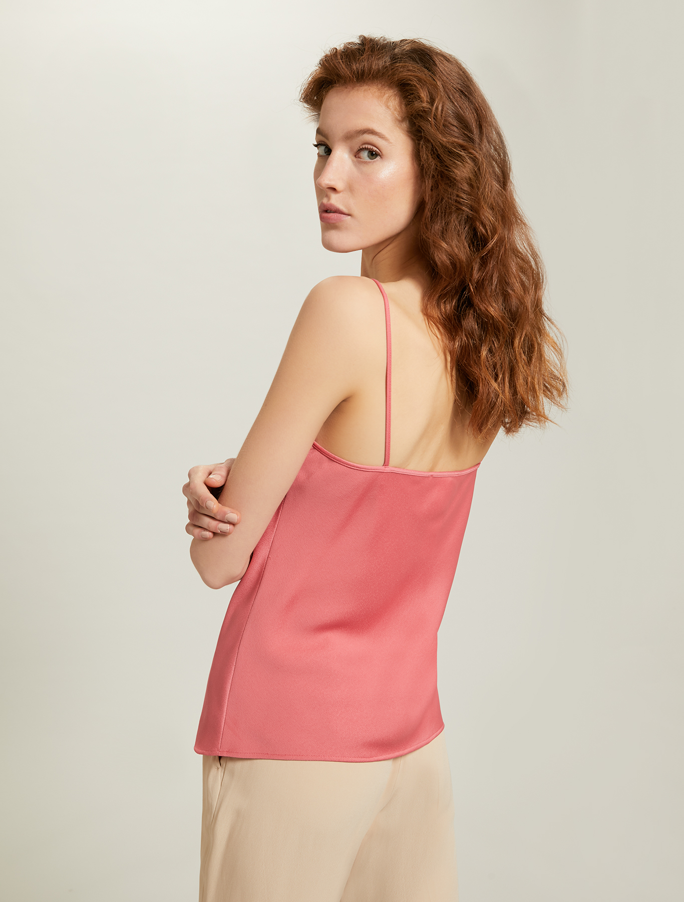 Top in envers satin - rosa antico - pennyblack