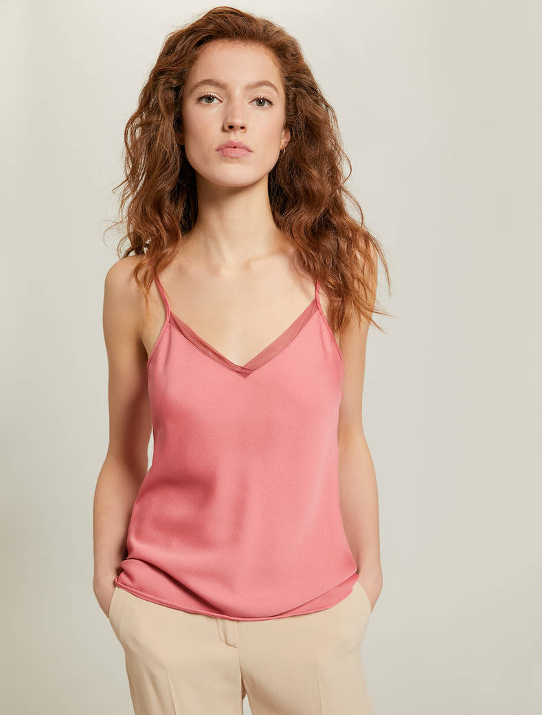 Envers satin top - old rose - pennyblack