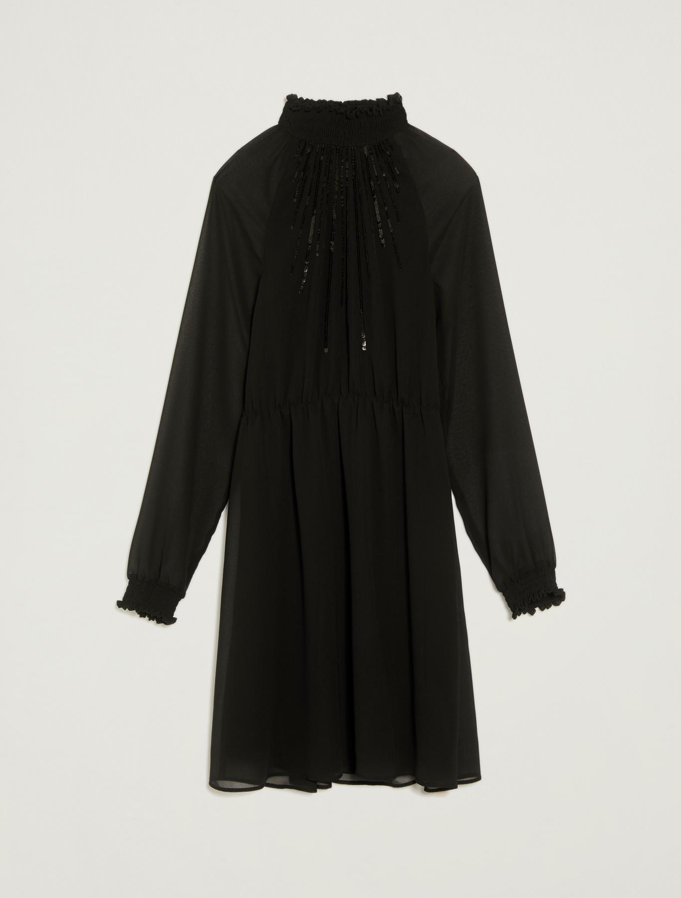 Sequinned georgette dress - black - pennyblack