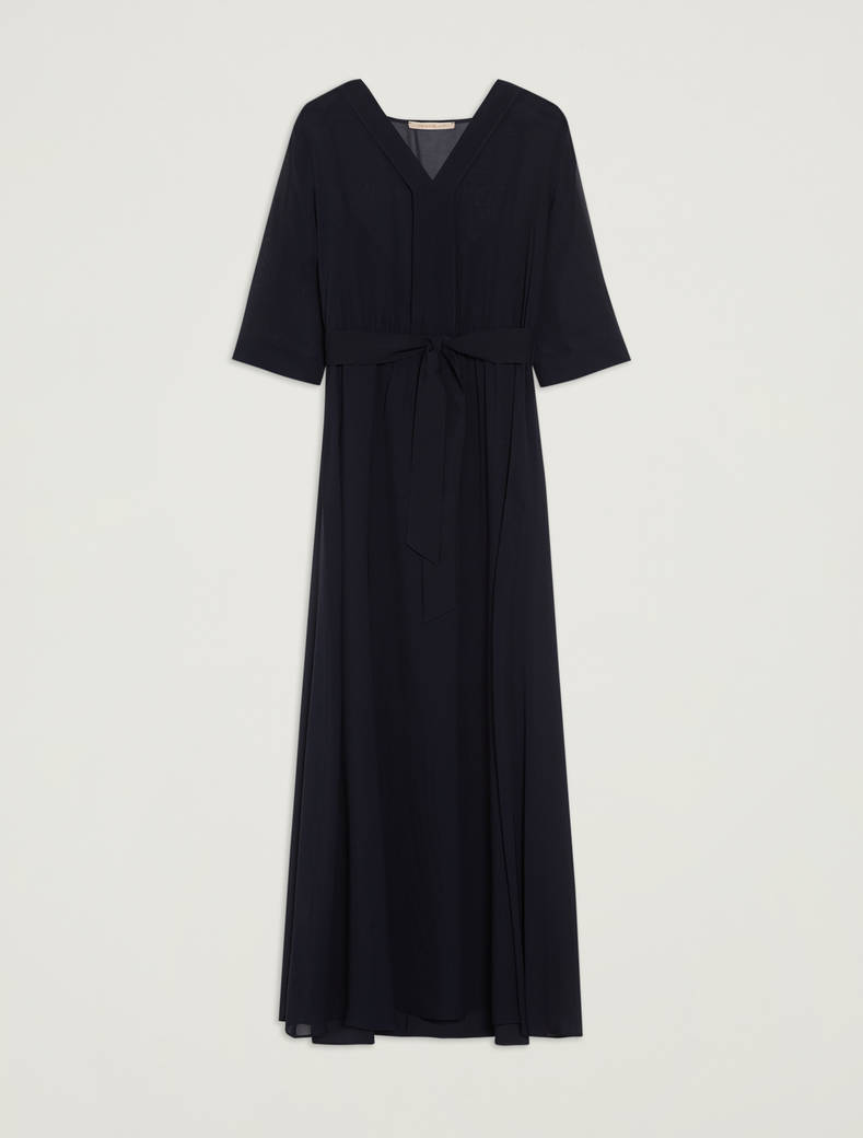 Long georgette dress - midnight blue - pennyblack