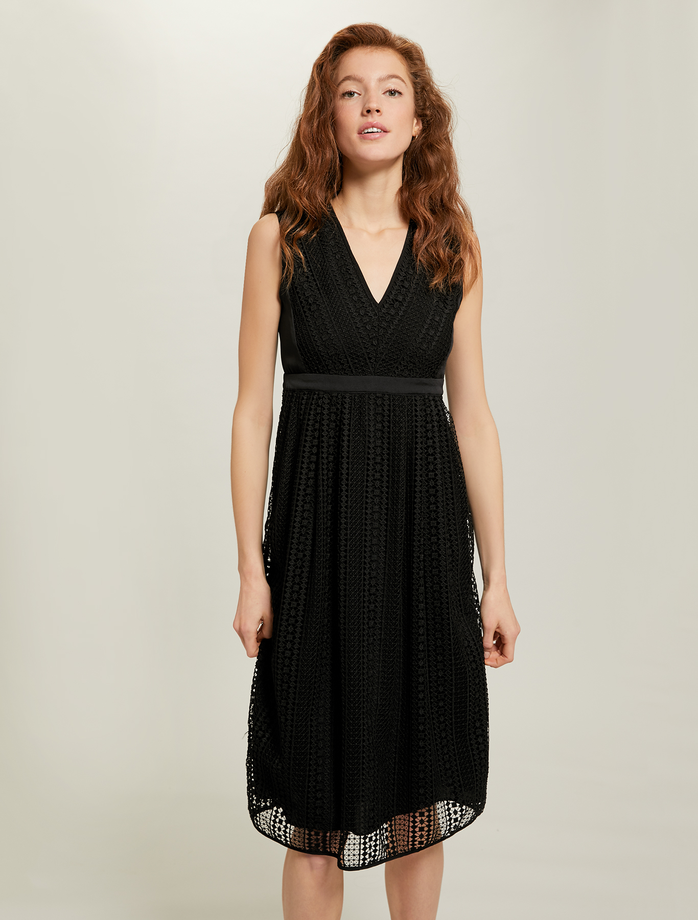 Geometric macramé dress - black - pennyblack