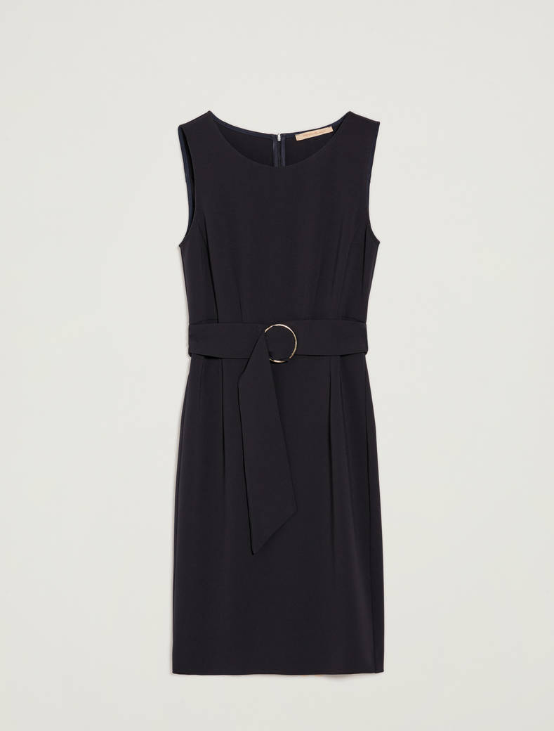Sheath dress with belt - navy blue - pennyblack