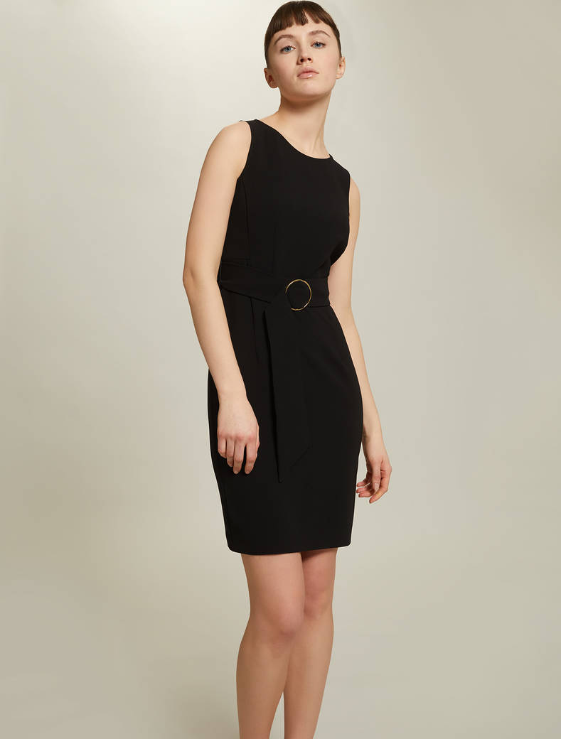 Sheath dress with belt - black - pennyblack