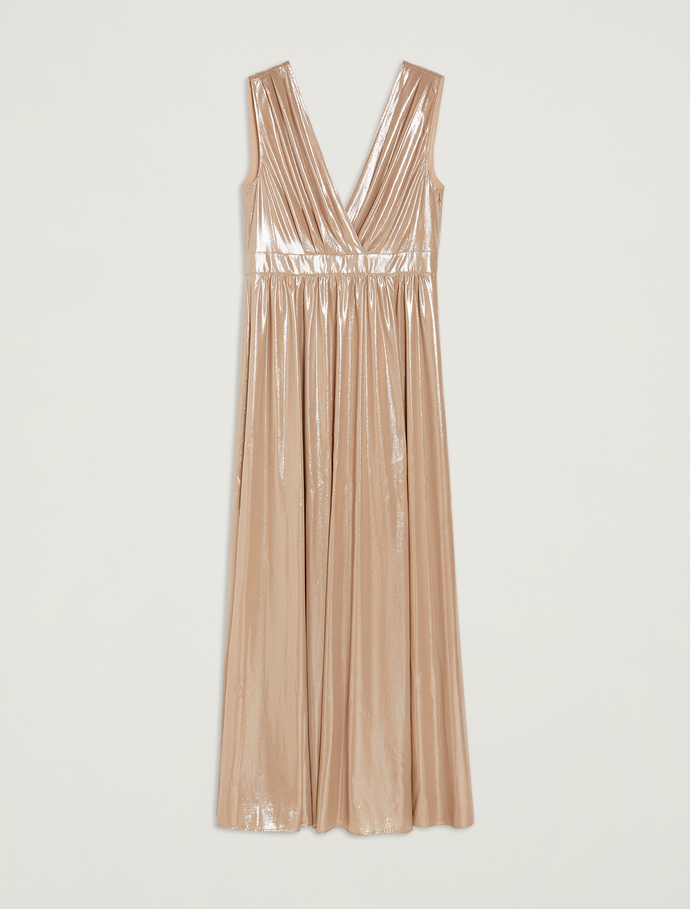 Dress in metallic georgette - beige - pennyblack