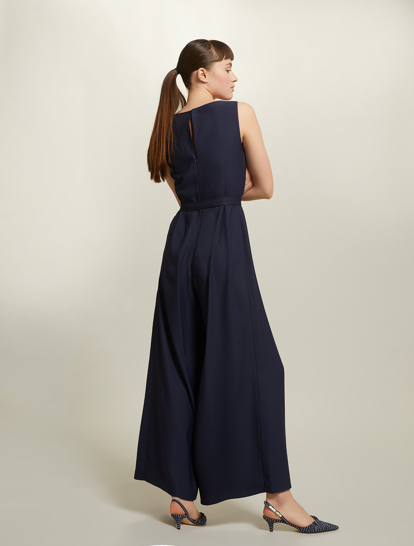 Envers satin jumpsuit - navy blue - pennyblack