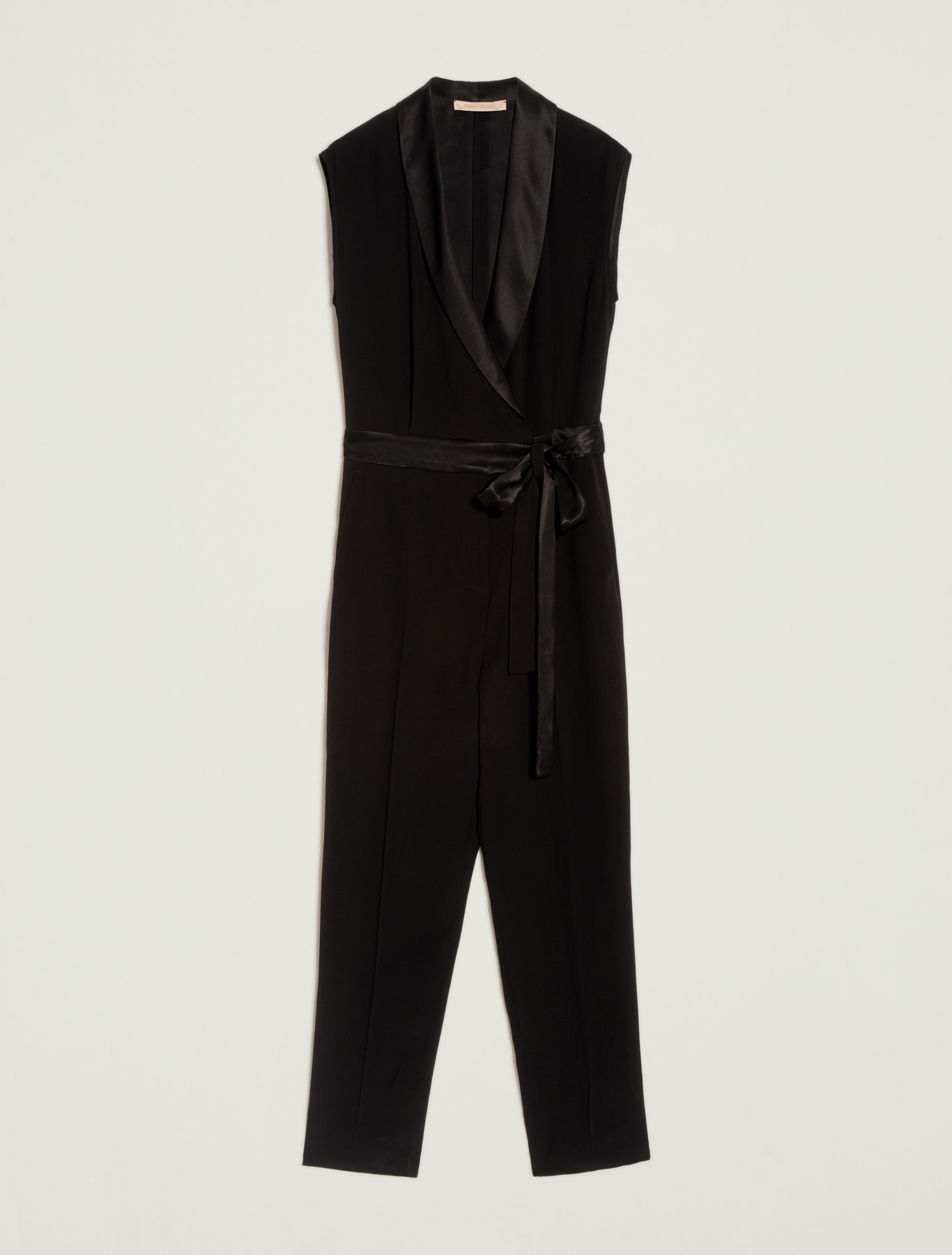 Envers satin jumpsuit - black - pennyblack