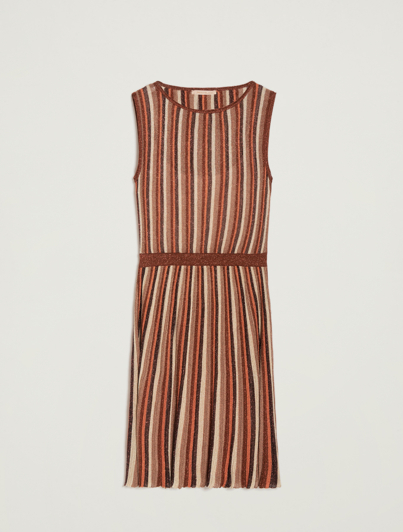 Lamé knit dress - brown - pennyblack