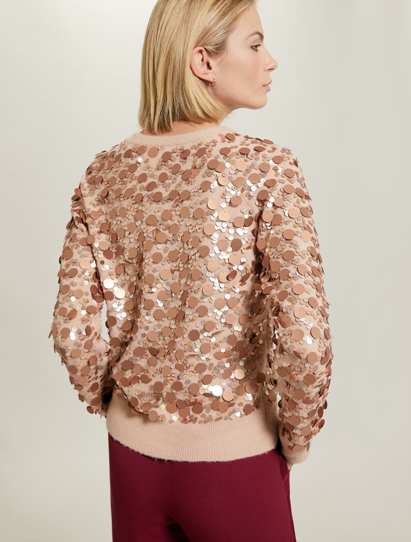 Sequinned jumper - pink - pennyblack
