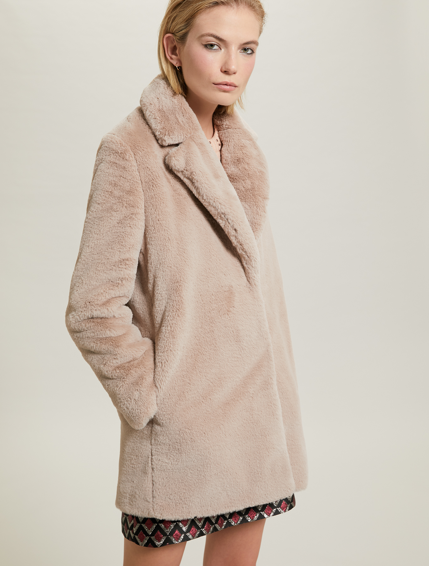 Plush coat - dove-grey - pennyblack