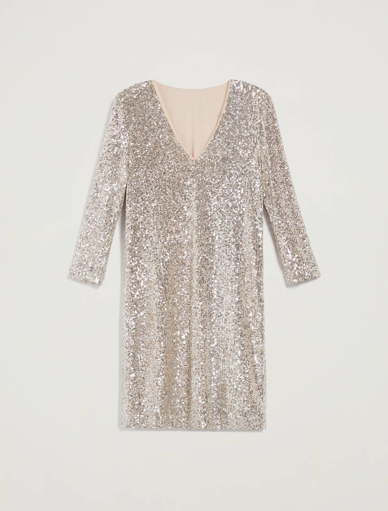 Sequinned dress - silver - pennyblack