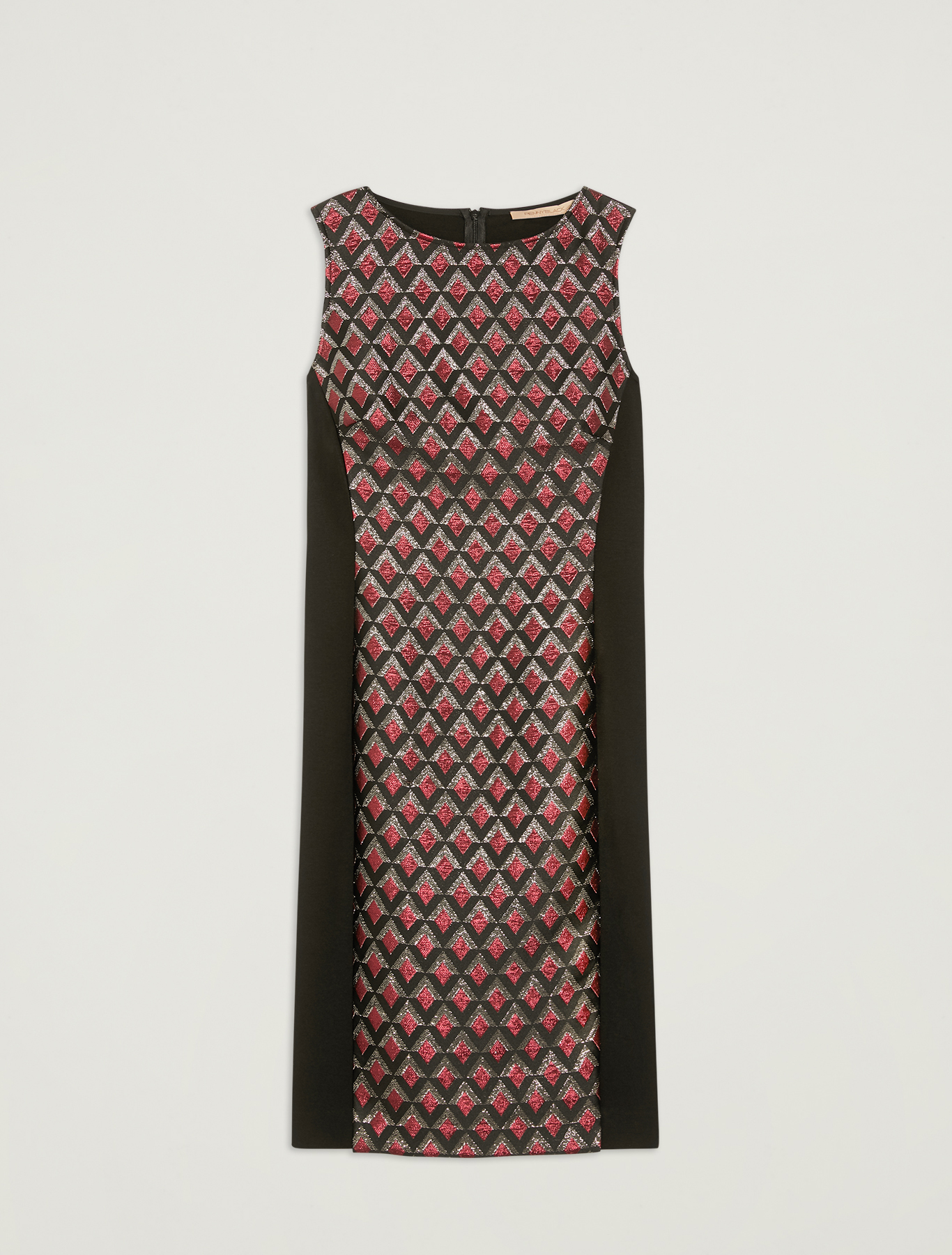 Lamé jacquard dress - black - pennyblack