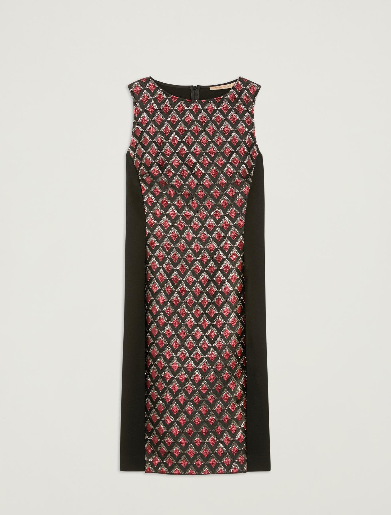 Lamé jacquard dress - black - pennyblack