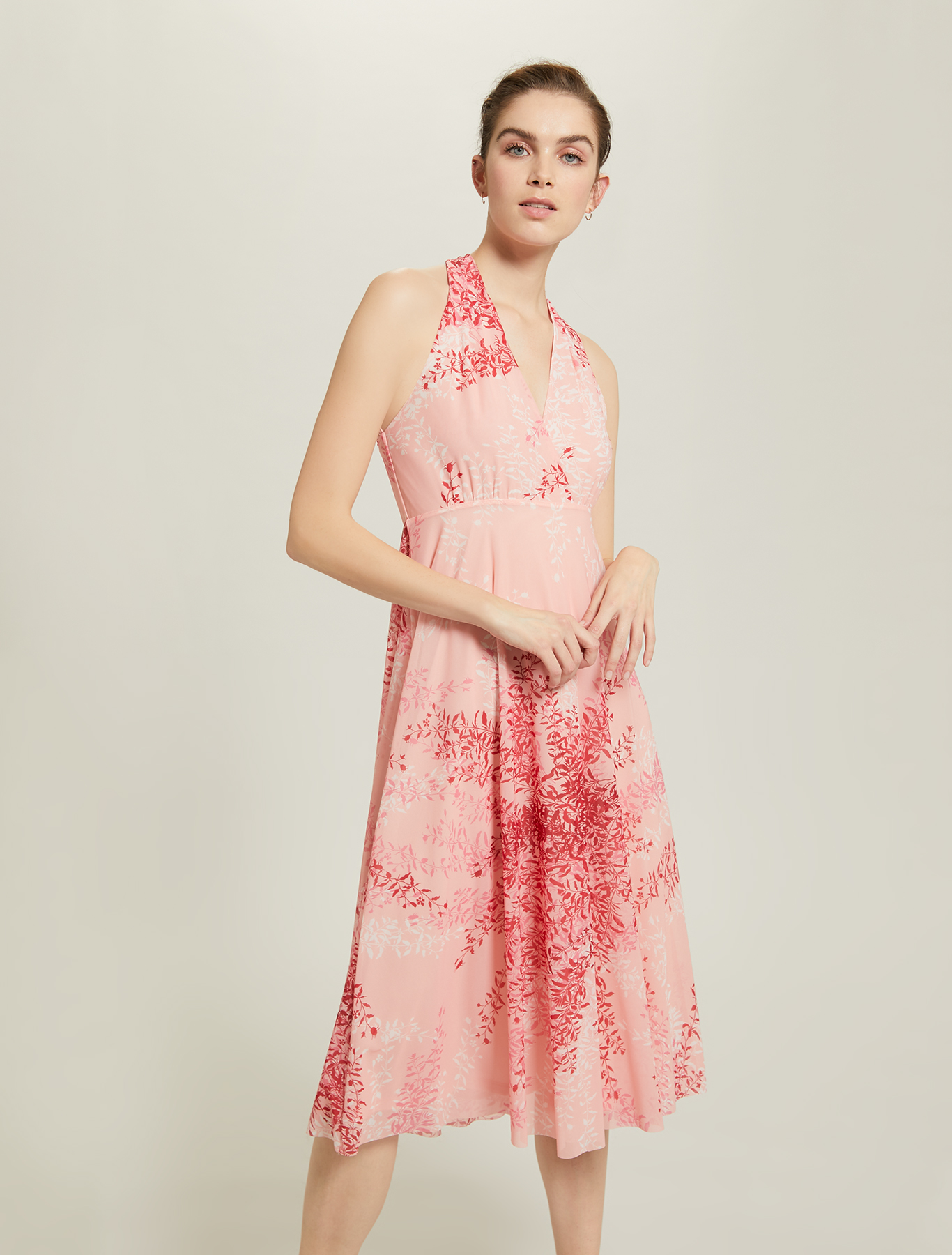 Floral tulle dress - red pattern - pennyblack