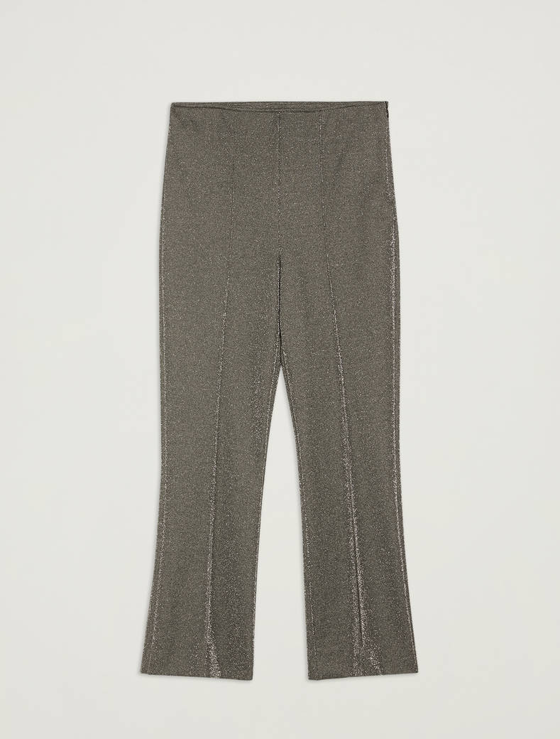 Lamé jersey trousers - silver pattern - pennyblack
