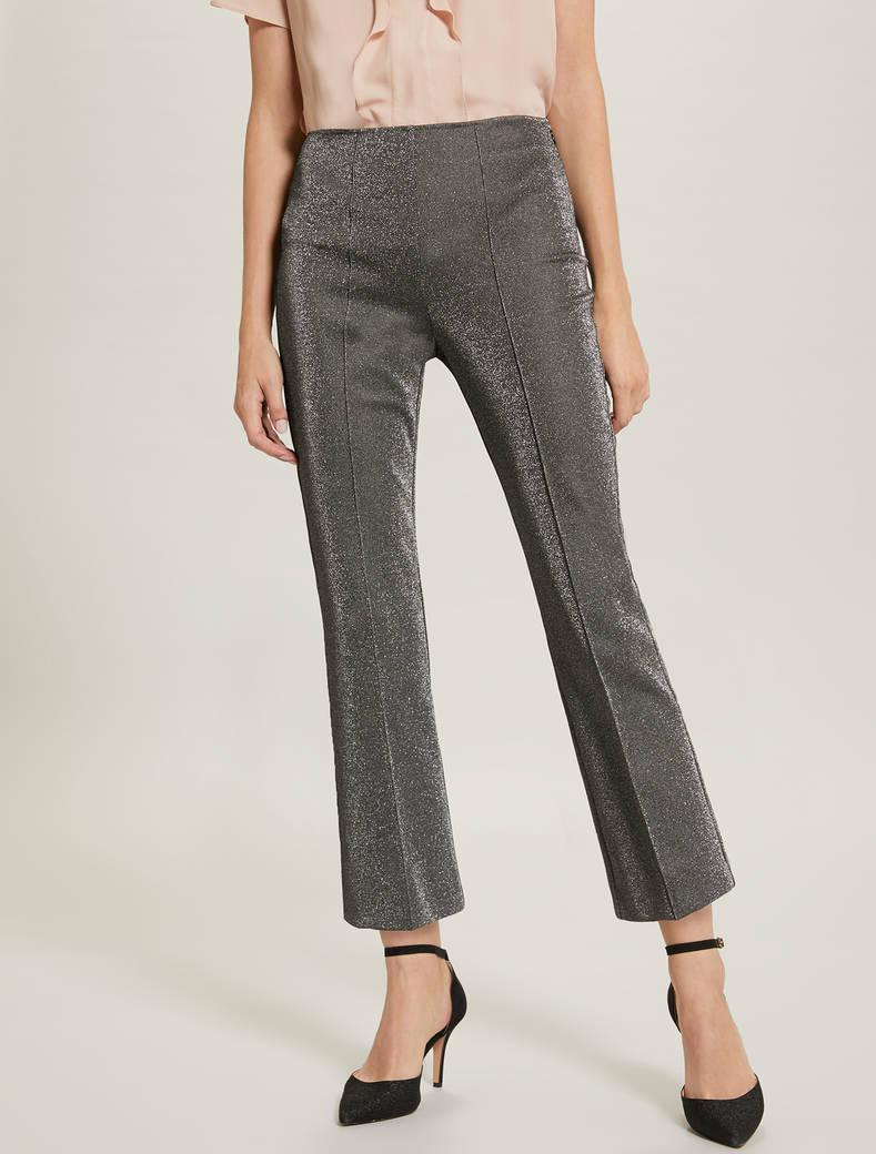 Pantaloni in jersey lamé - fantasia argento - pennyblack