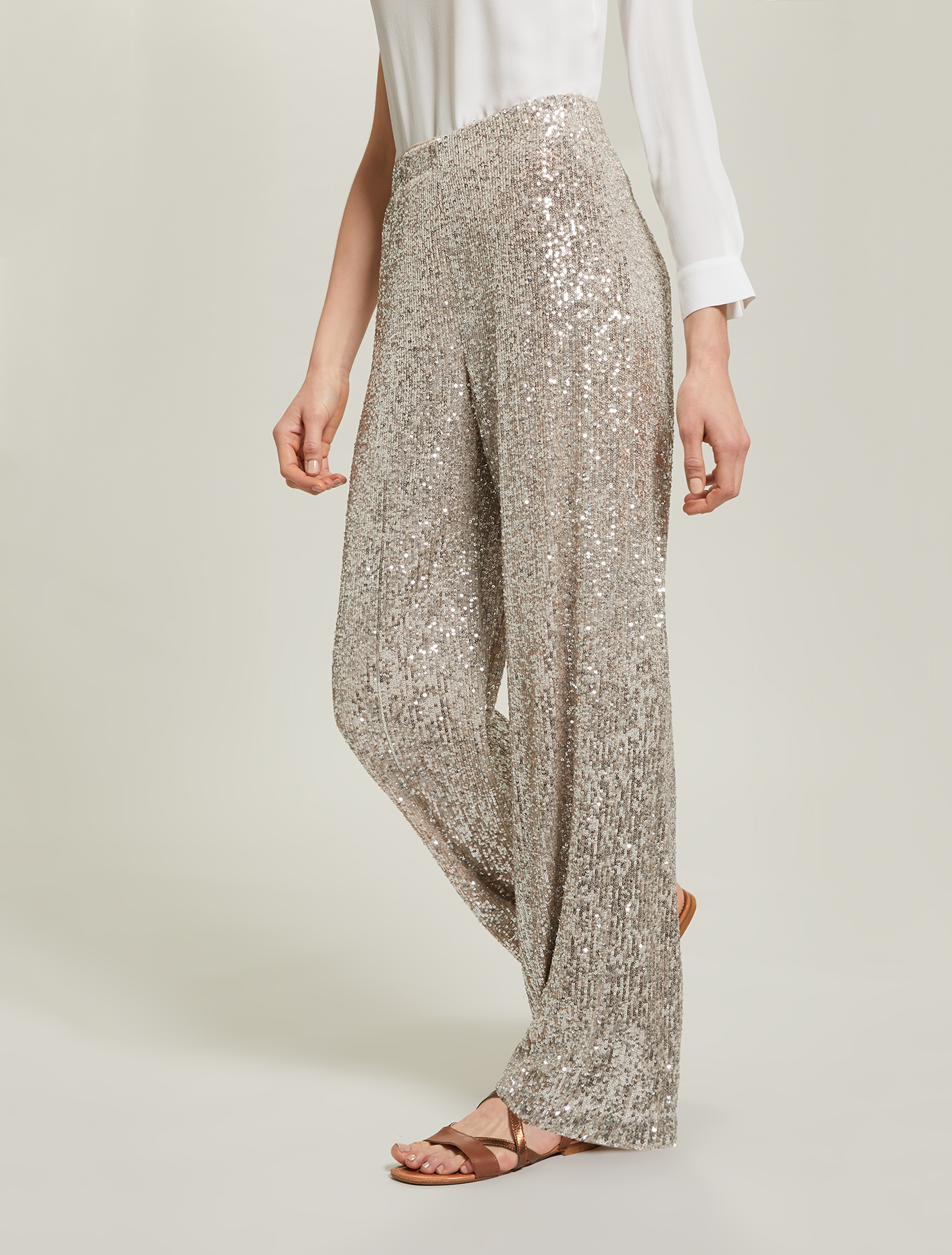 Sequinned trousers - silver - pennyblack