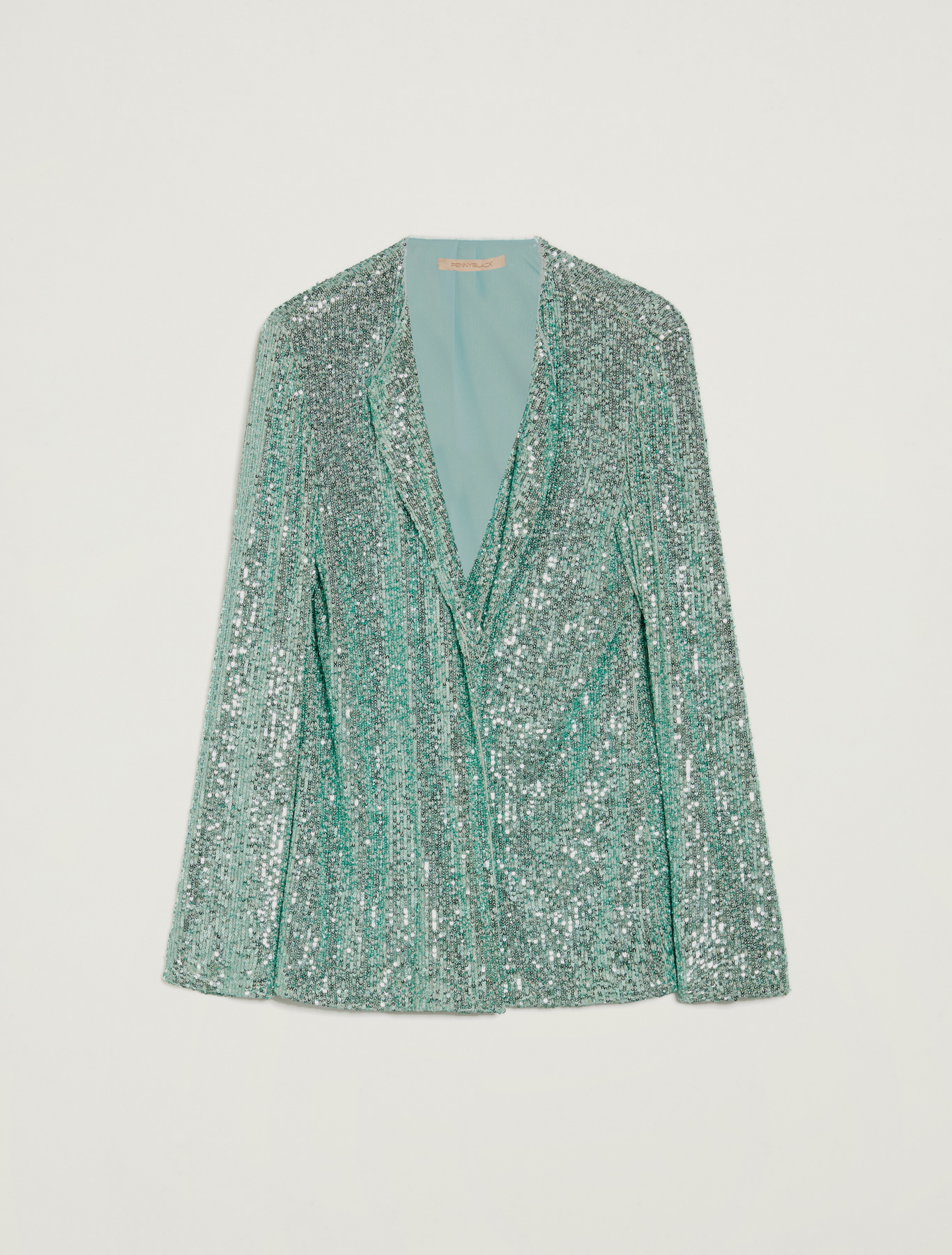 Sequinned jacket - pastel green - pennyblack