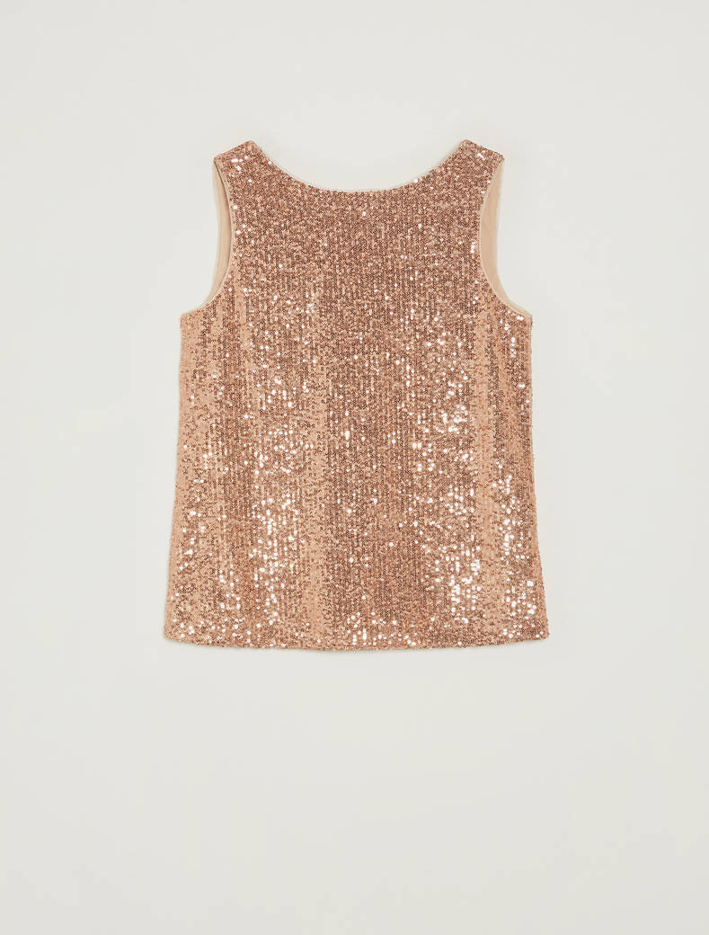 Sequinned top - pink - pennyblack