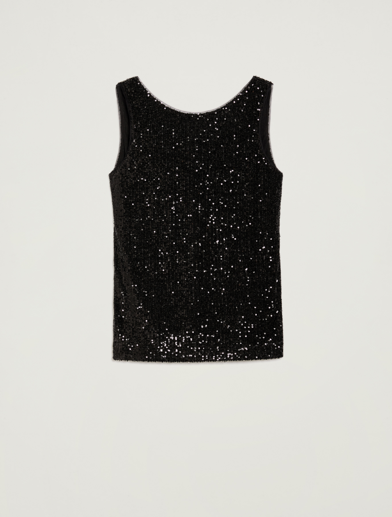 Sequinned top - black - pennyblack