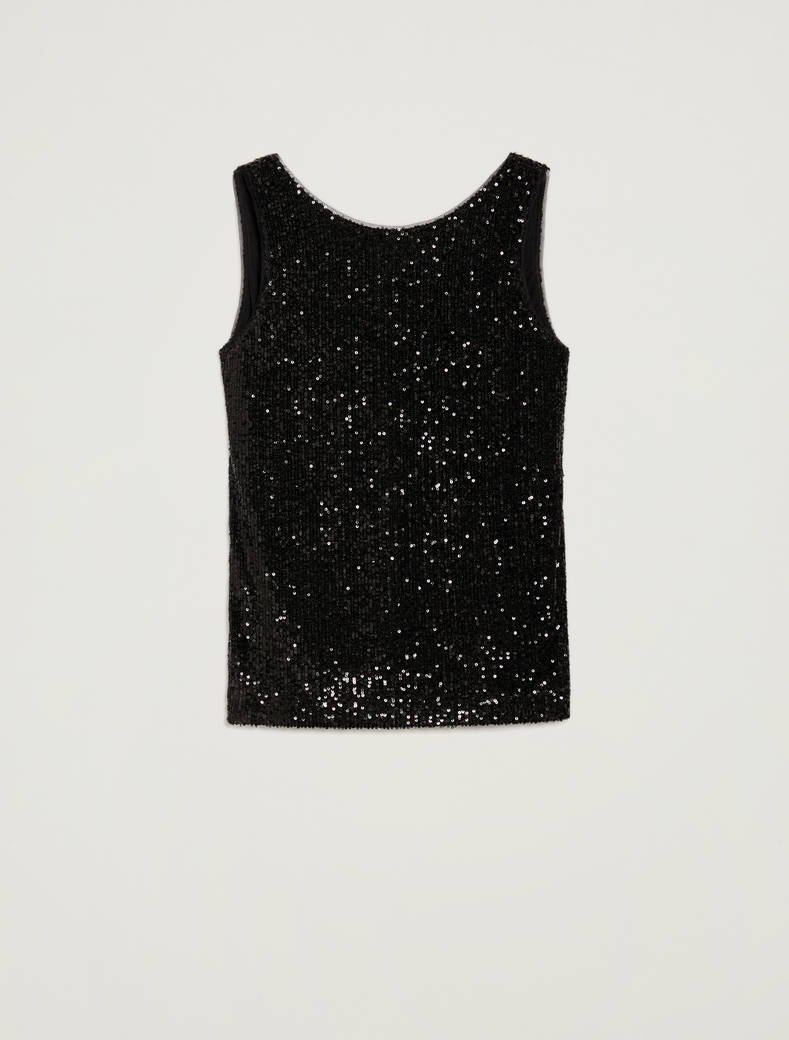 Top di paillettes - nero - pennyblack