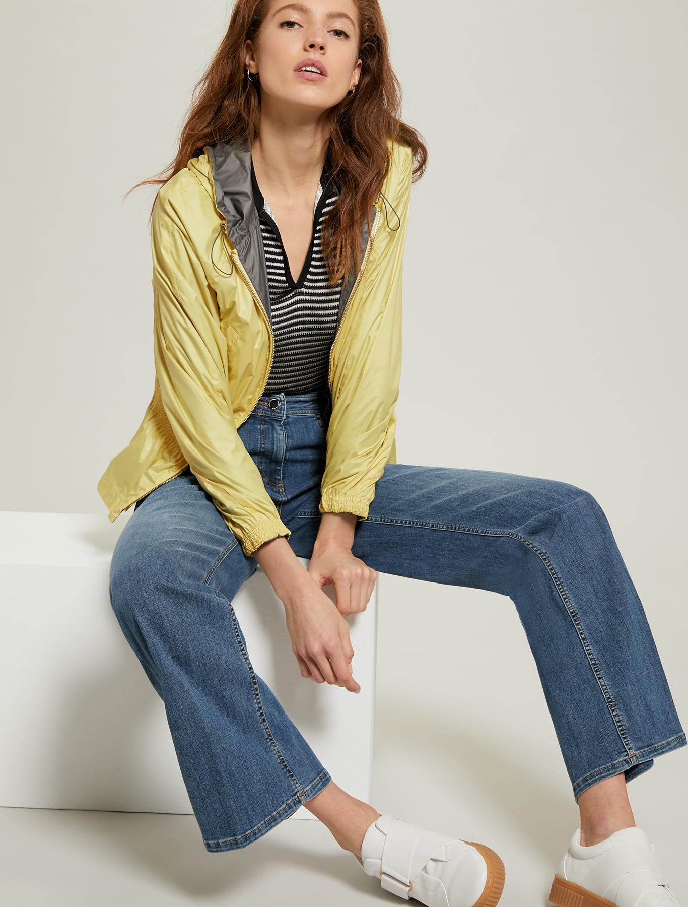 Reversible jacket in technical fabric - sunshine yellow - pennyblack