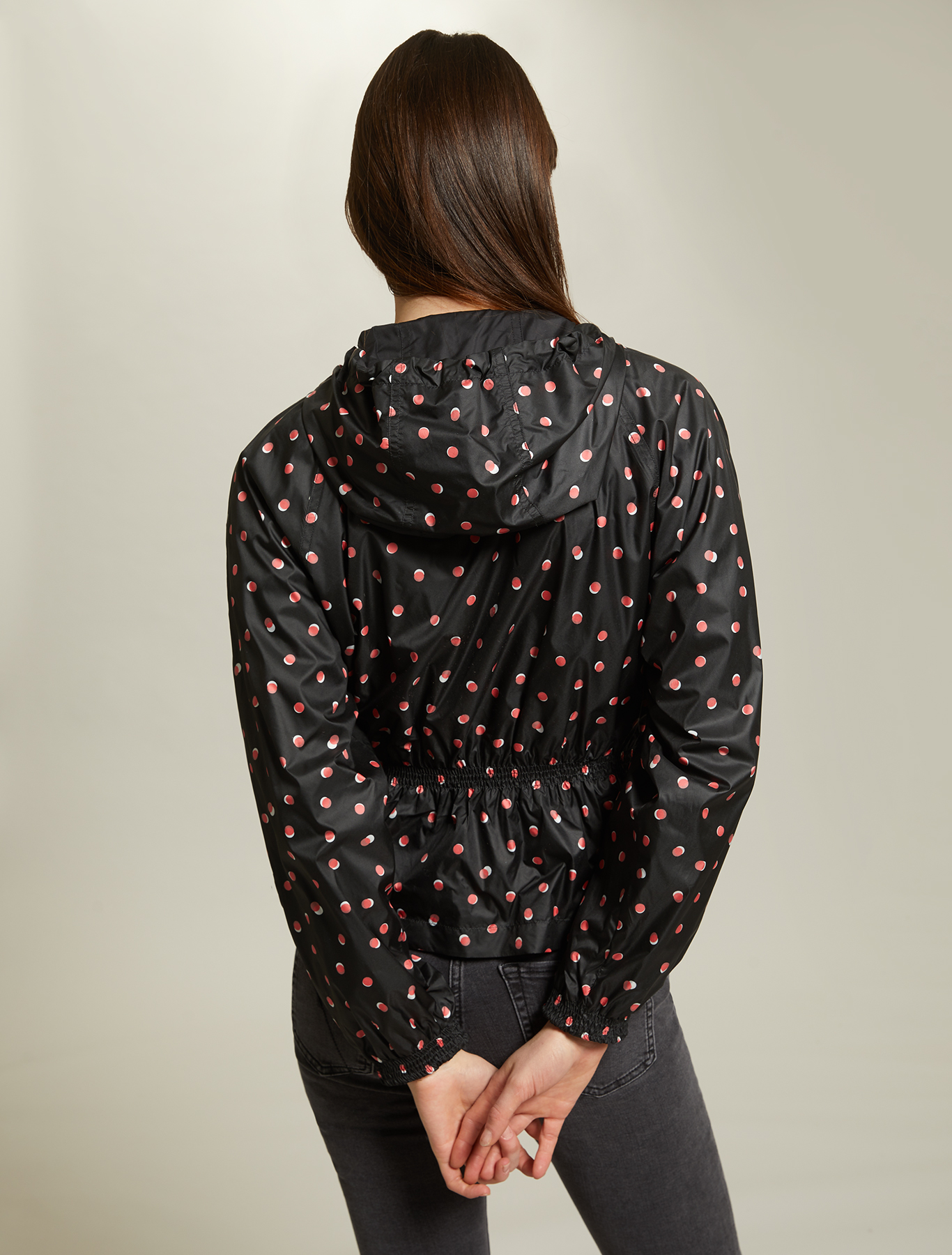Reversible jacket in technical fabric - black pattern - pennyblack