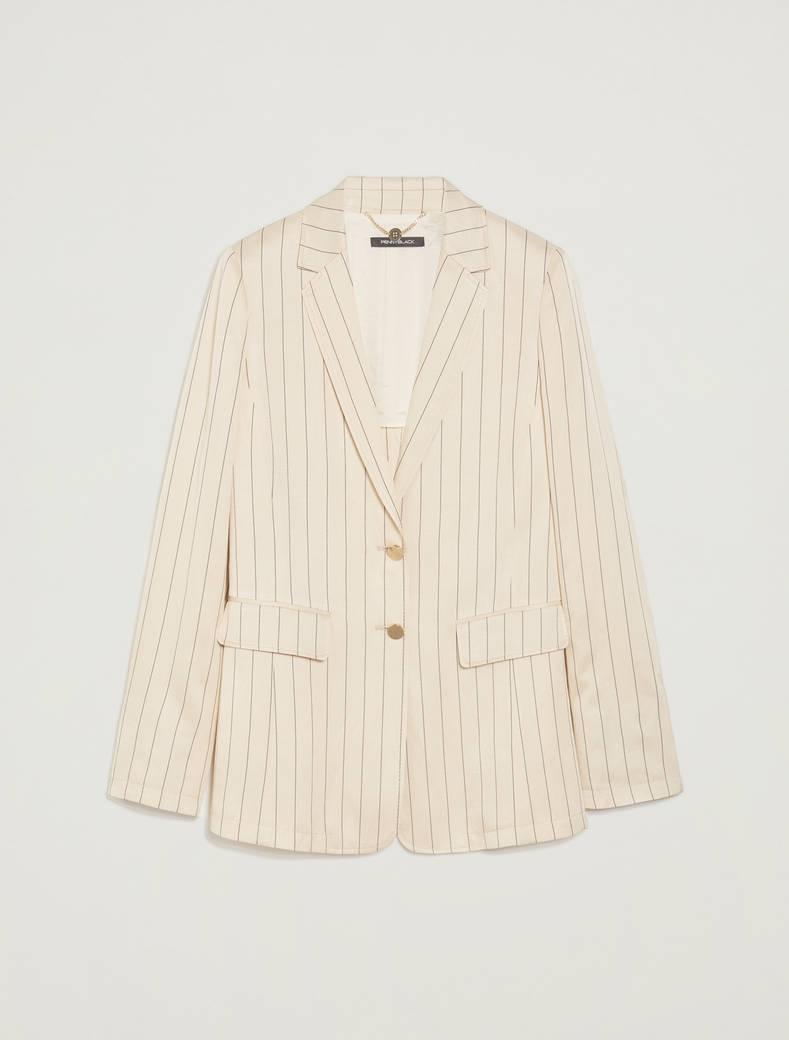 Pinstriped twill blazer - beige pattern - pennyblack