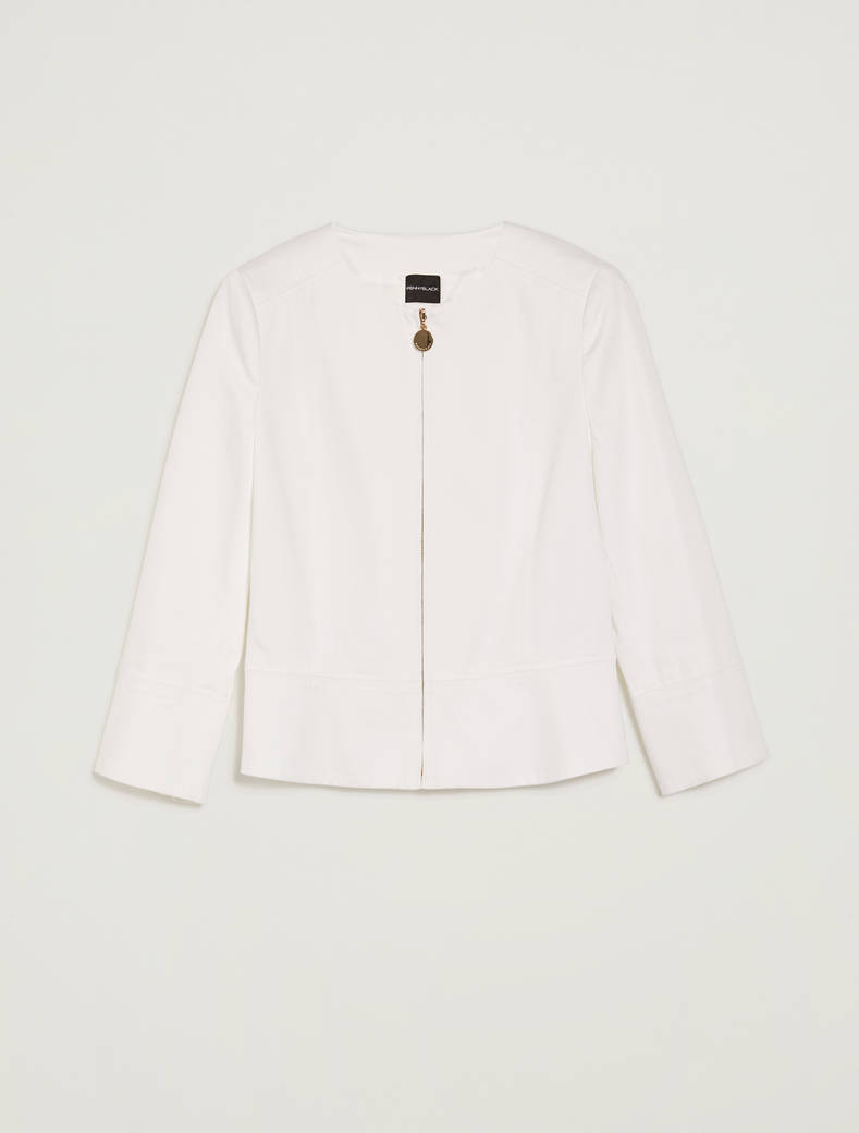 Cotton satin jacket - white - pennyblack
