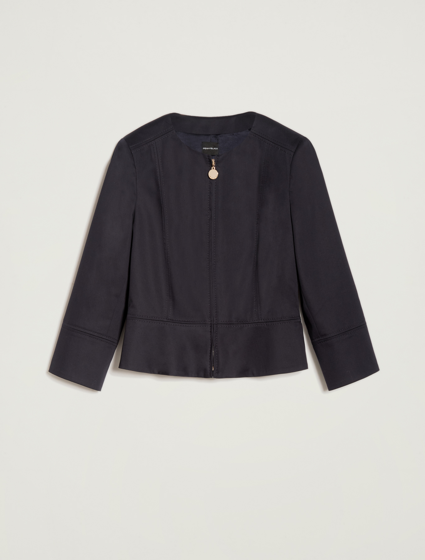 Cotton satin jacket - navy blue - pennyblack
