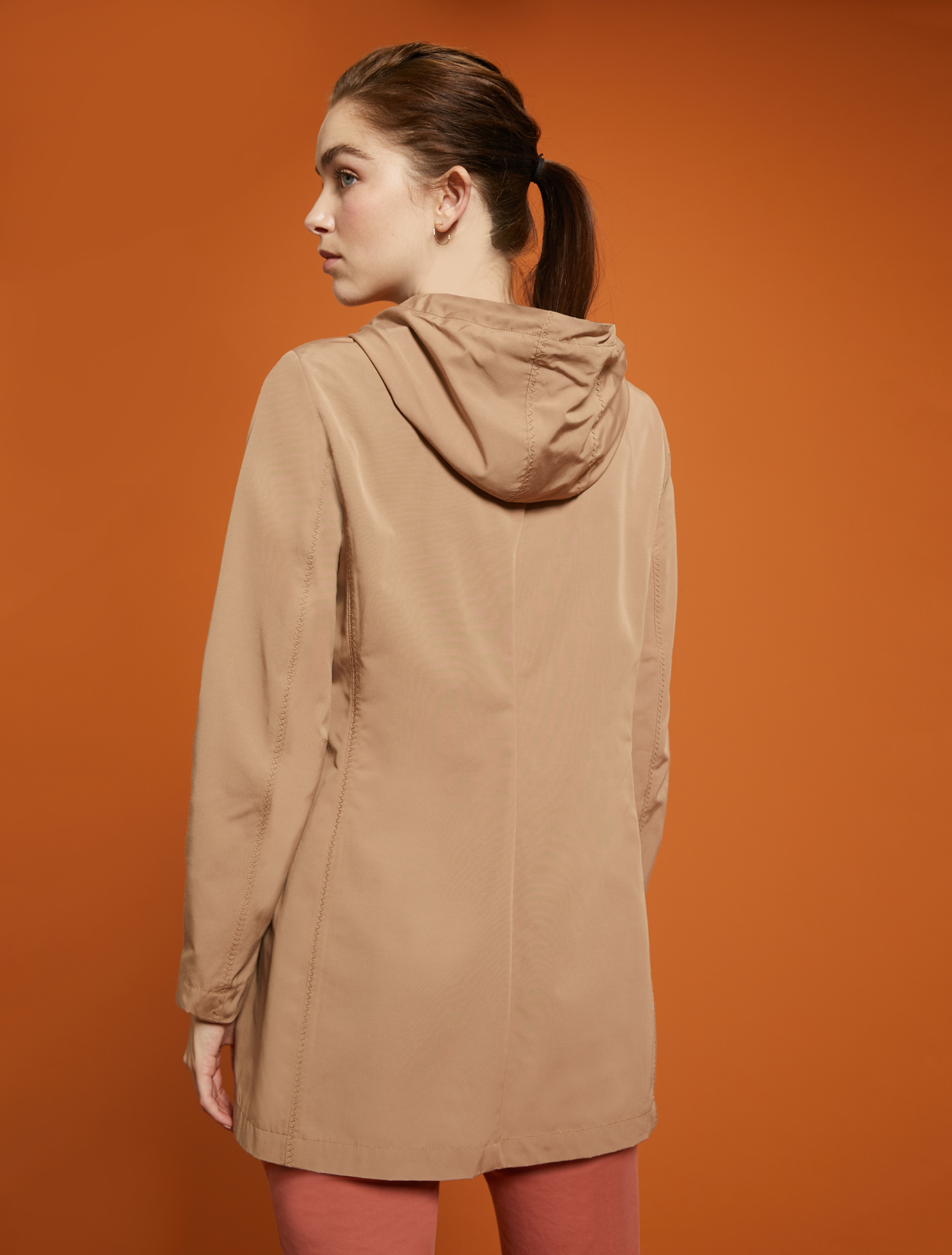 Technical cotton jacket - brown - pennyblack