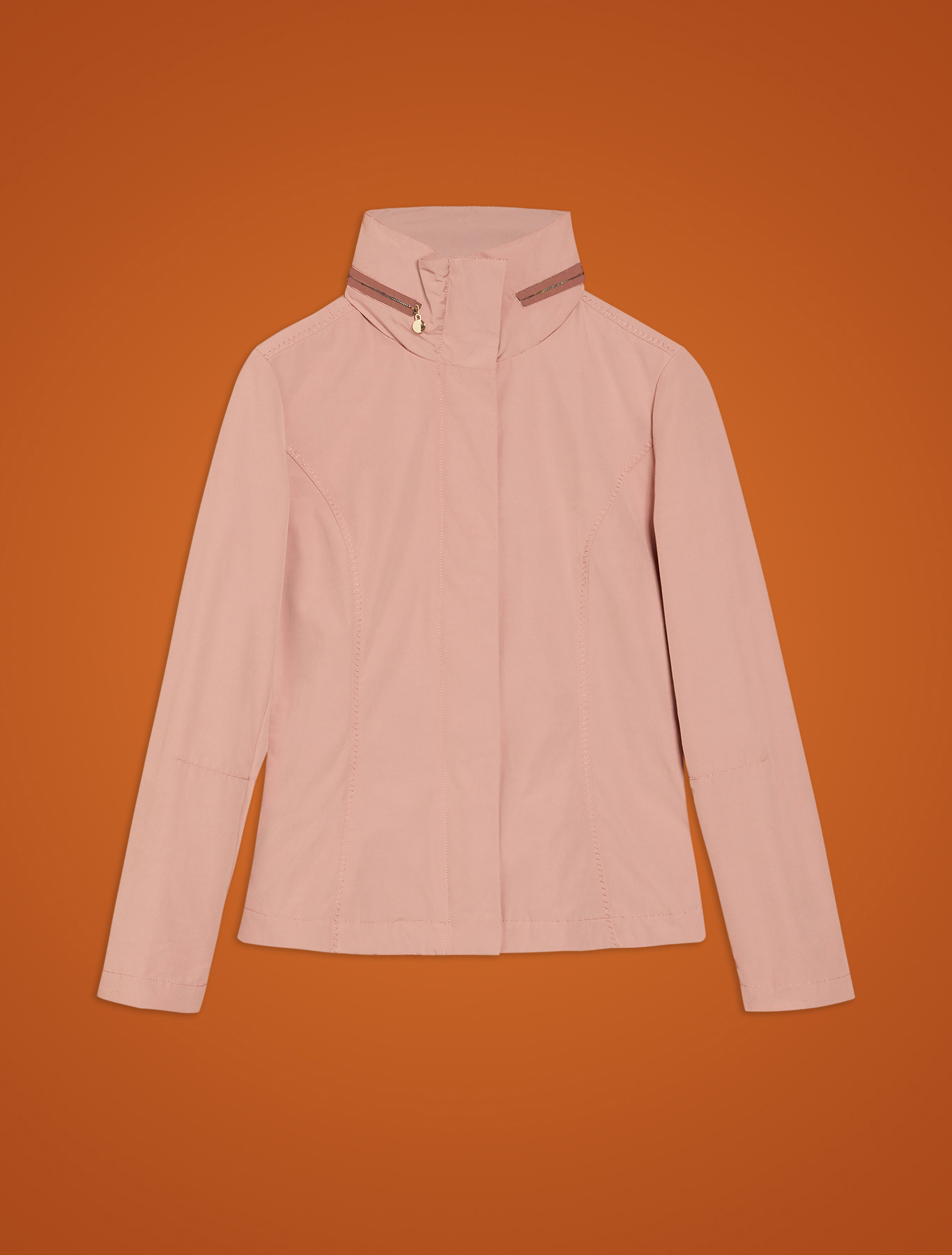 Slim jacket in technical cotton - pink - pennyblack