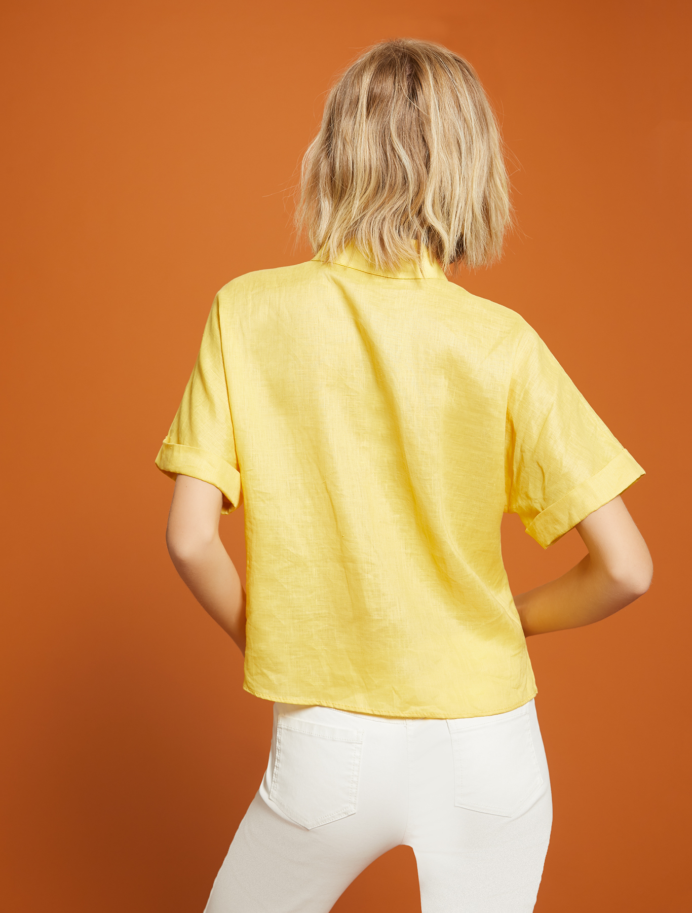 Pure linen shirt - sunshine yellow - pennyblack