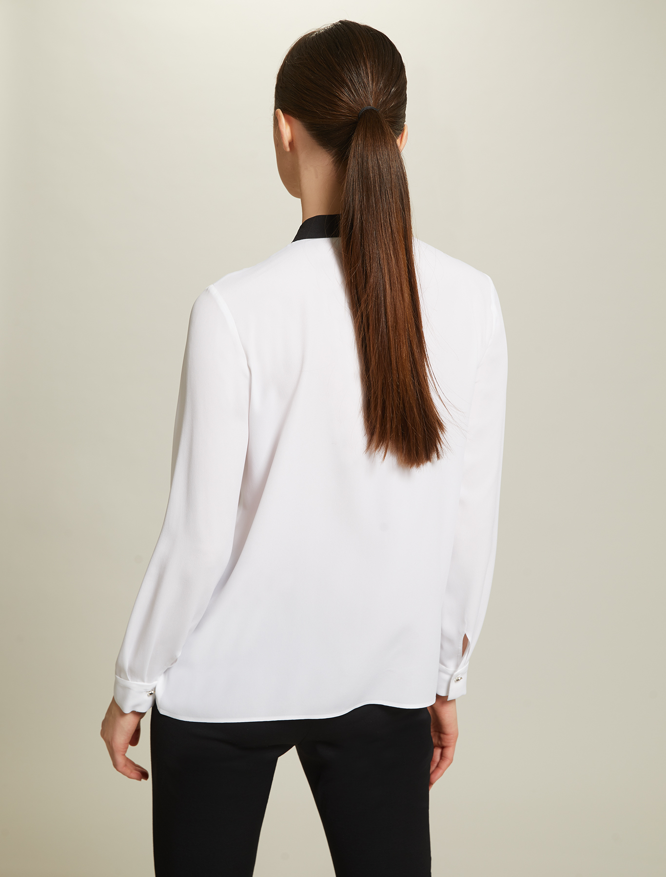 Crêpe de Chine shirt - optic white - pennyblack