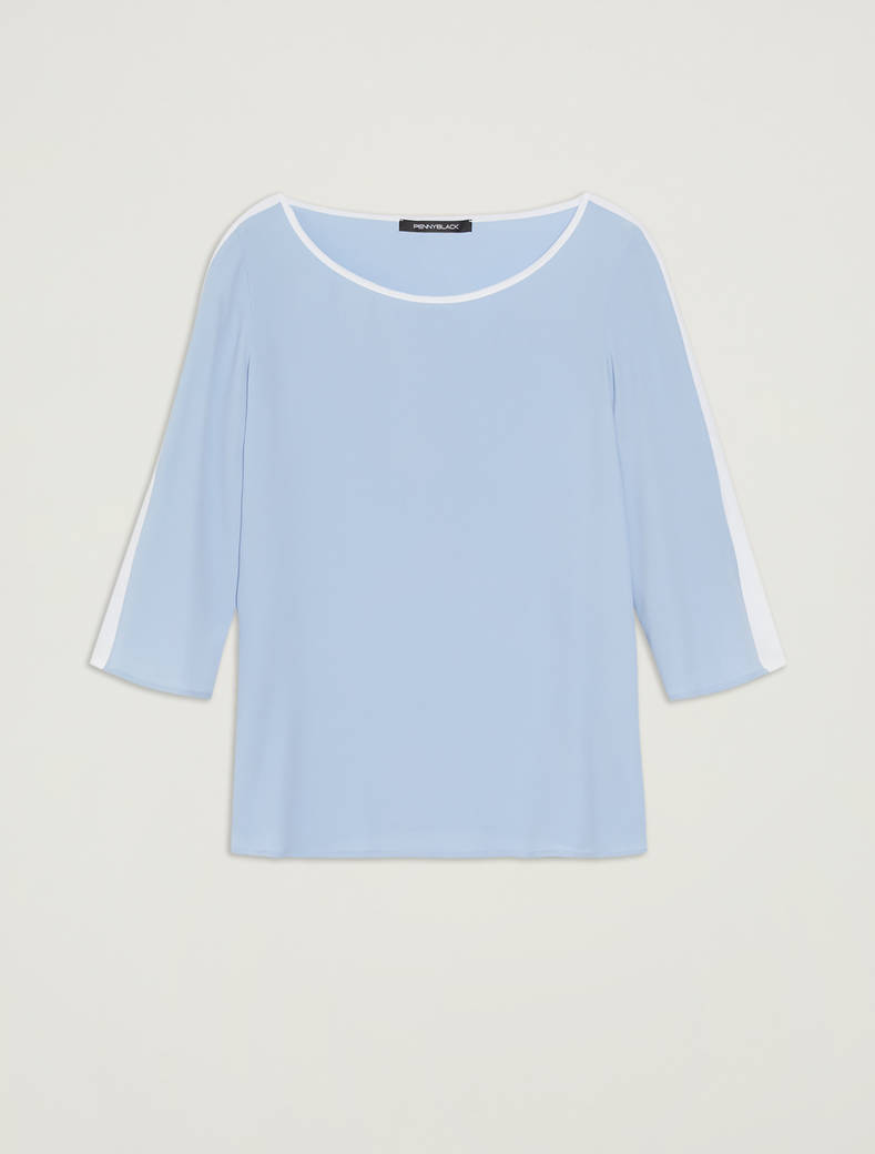 Crêpe de Chine blouse - light blue - pennyblack