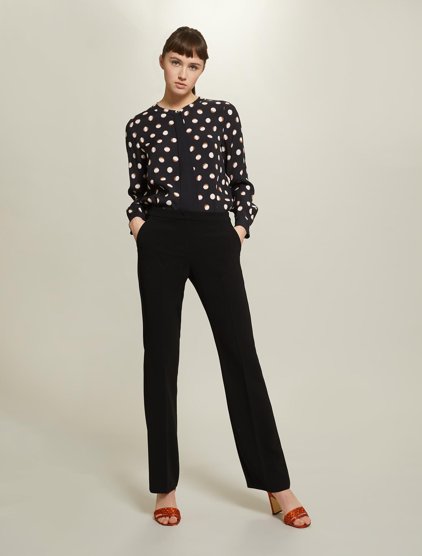 Polka dot sablé shirt - black pattern - pennyblack