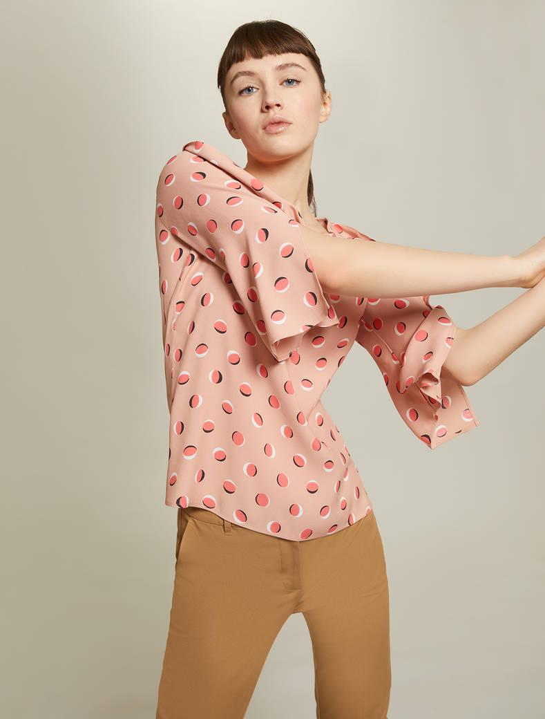Blusa in sablé a pois - fantasia rosa - pennyblack
