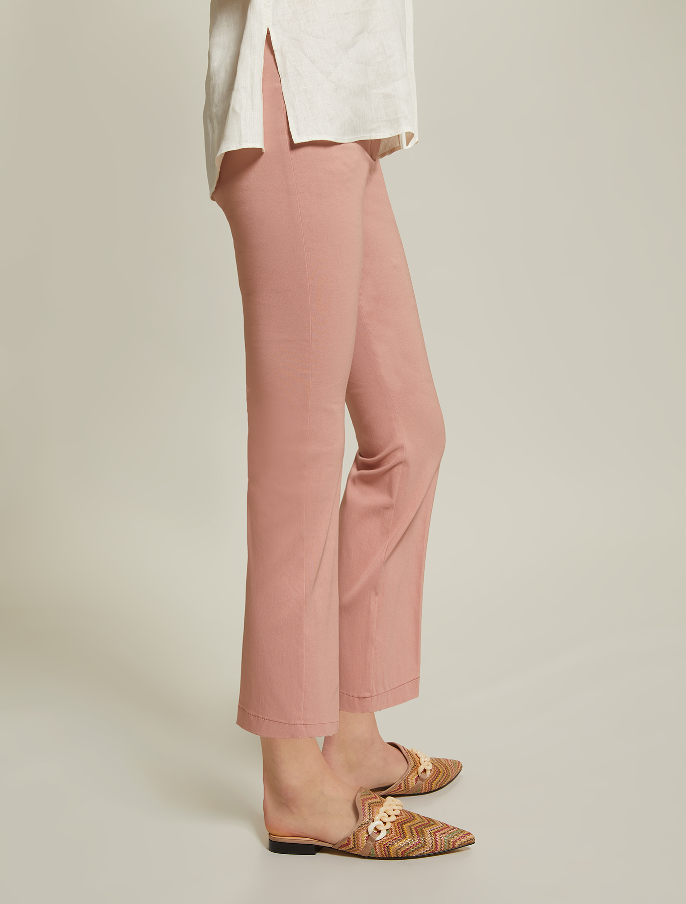 Kick-flare trousers - pink - pennyblack