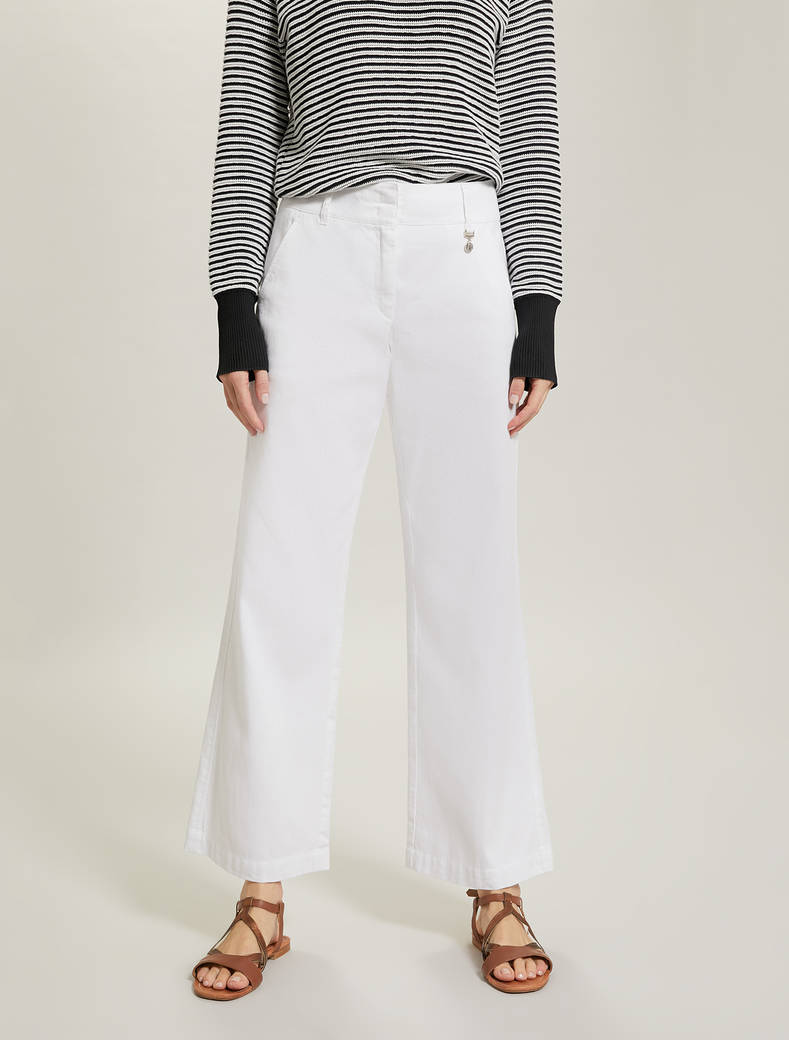 Linen and cotton trousers - white - pennyblack
