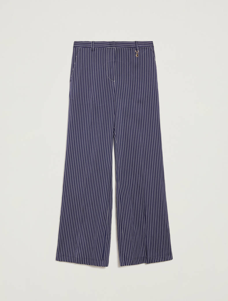 Pinstriped twill trousers - navy blue pattern - pennyblack