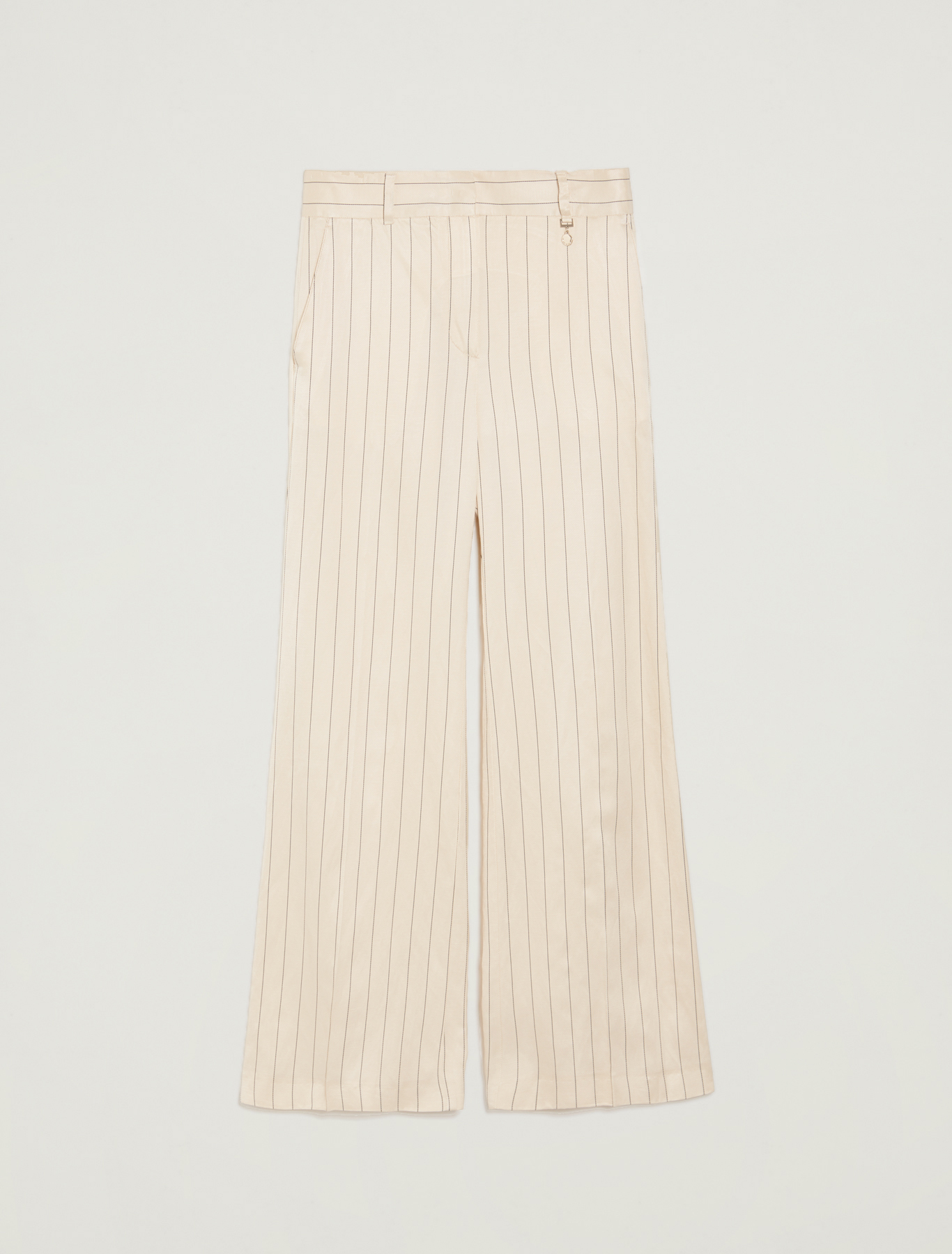 Pinstriped twill trousers - beige pattern - pennyblack