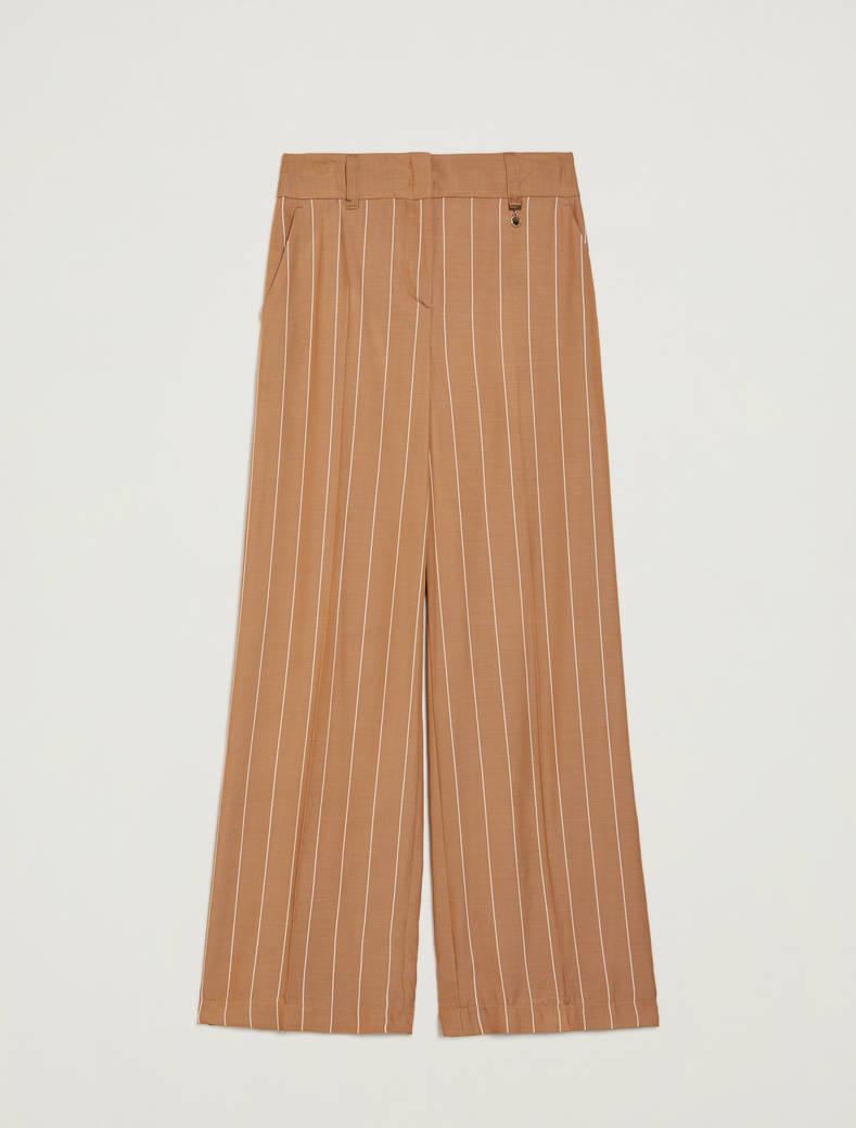 Flowing pinstriped trousers - dove-grey pattern - pennyblack