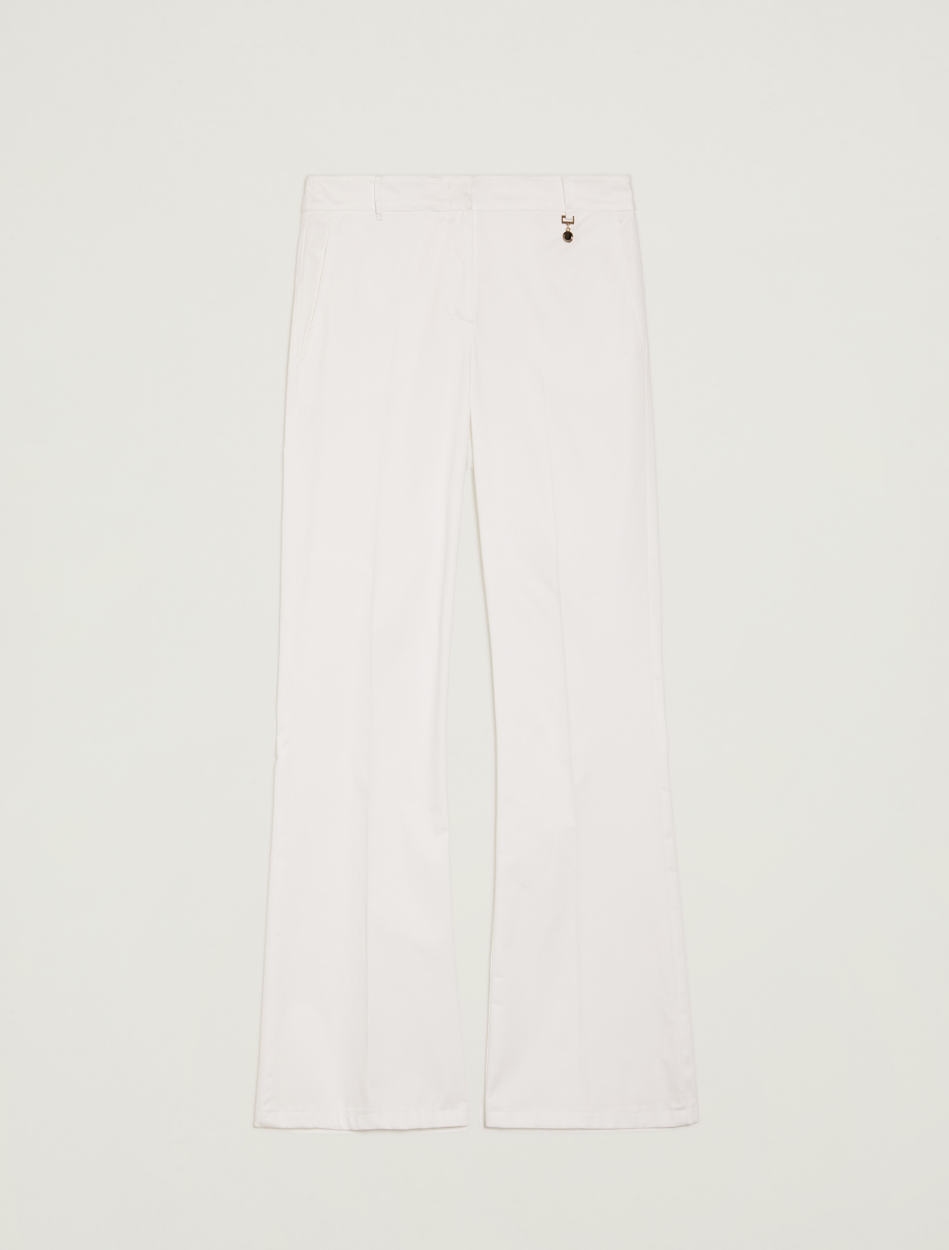 Cotton satin trousers - white - pennyblack